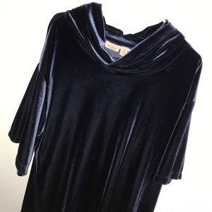 Easywear by Chico's blue velvet velour top